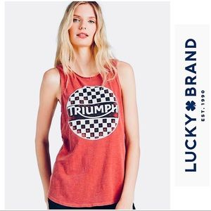 Lucky Brand Triumph Checkers Tank